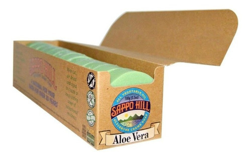 jabon de aloe vera importado para pieles delicadas x 100gr