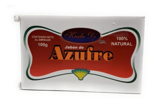 jabon  de azufre marca karla di 100g envio full