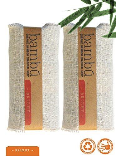 jabón de bambú - paquete 2, barra limpiadora