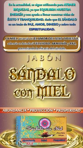 jabón de sándalo con miel - abundancia, protección