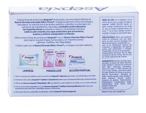 jabón de tocador barra asepxia neutro 100g genomma lab
