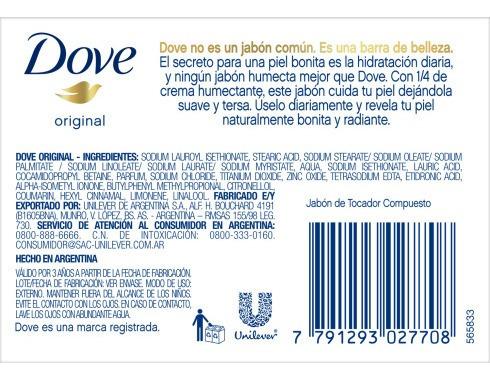 jabon de tocador corporal dove cream beauty bar 90gr