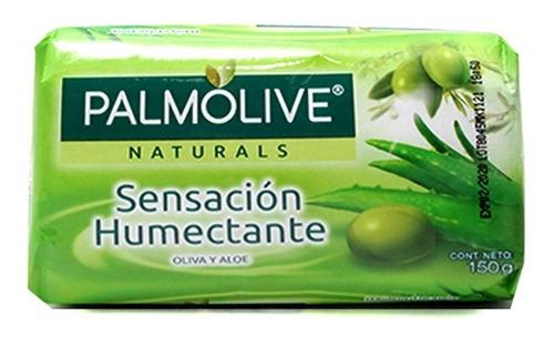 jabón de tocador palmolive naturals aloe y oliva en barra 15