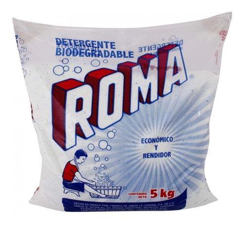 jabón detergente biodegradable roma en polvo 5kg