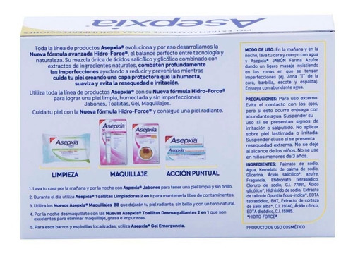 jabón en barra asepxia farma azufre 100g genomma lab