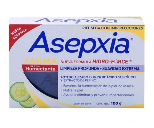 jabón en barra asepxia ultra humectante 100g genomma lab