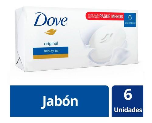 jabon en barra dove cream original 6 un x 90 gr
