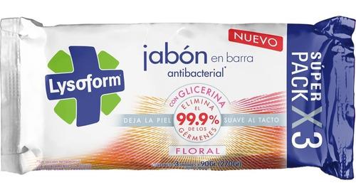 jabon en barra lysoform antibacterial 99% germenes x 20 paq.