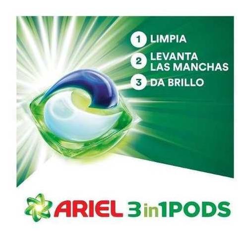 jabón en cápsulas ariel pods  31 unidades pack x2