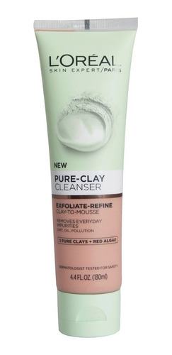 jabón exfoliante minimiza poros pure clay loréal paris