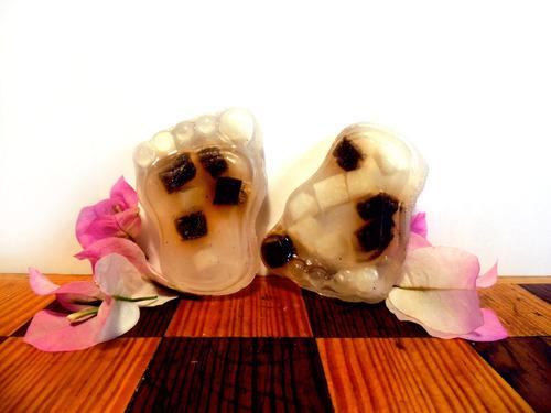 jabón glicerina pie pequeño-árbol del té- recuerdos