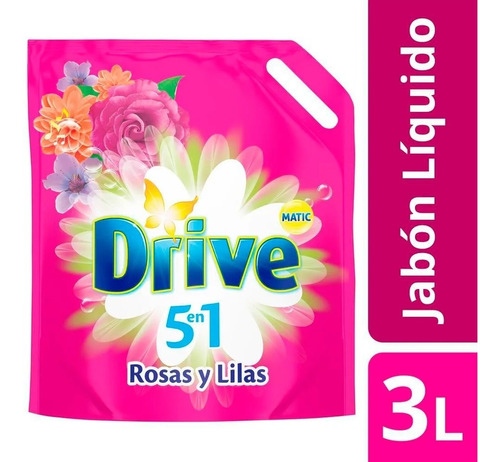jabon liquido drive 3 litros rosas y lilas titanium supermay