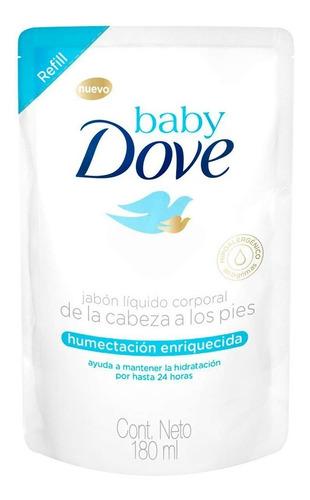 jabon liquido repuesto dove baby hidratacion x 180ml