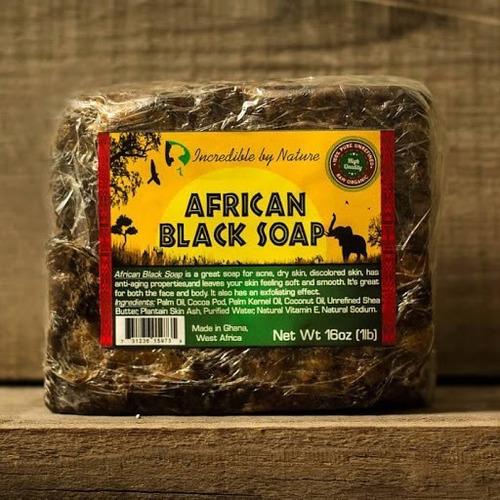 jabón negro africano x 16 onzas
