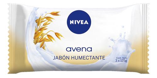 jabon nivea avena 3 x 125gr piel sensible humectante