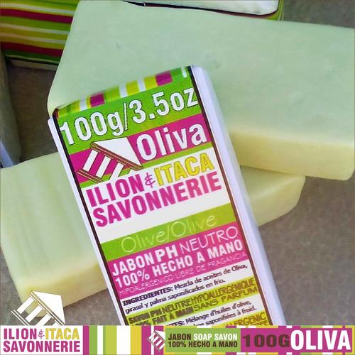 jabón oliva artesanal. pack de 5 unidades