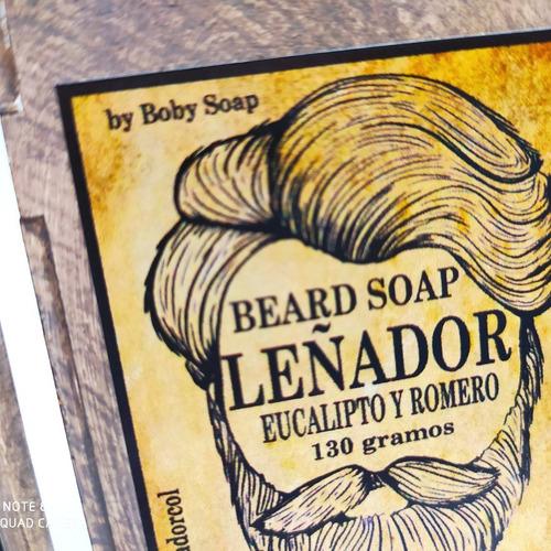 jabón para la barba leñador