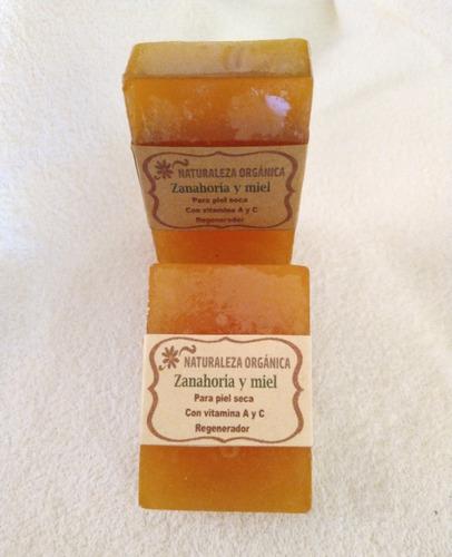 jabon p/piel seca-con vitamina a y c de zanahoria y miel x 2