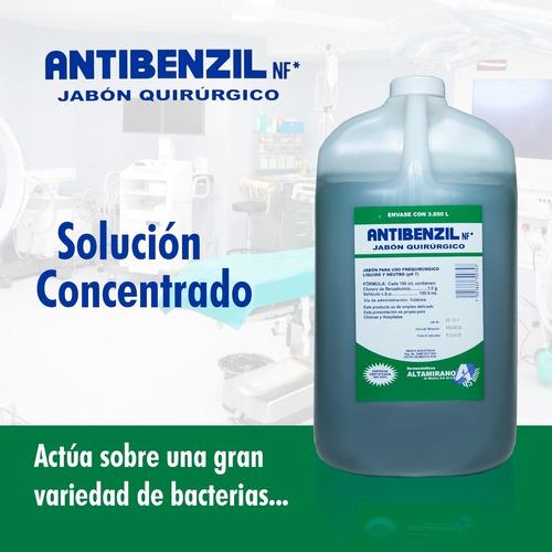 jabón quirurgico antibenzil 3.850 litros desinfectante
