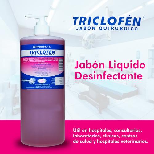 jabón quirúrgico desinfectante triclofen dosificador 1 l