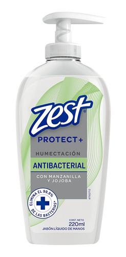jabón zest antibacterial líquido para manos humectante 220ml