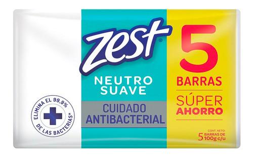 jabón zest antibacterial neutro 5pack 100g c/u