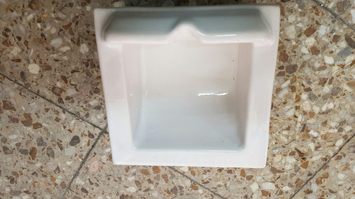 jabonera antigua cerámica porcelana blanco brillante,