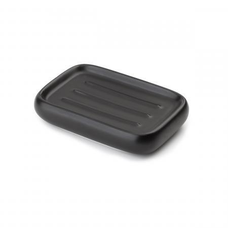 jabonera cerámica negro umbra - línea kona
