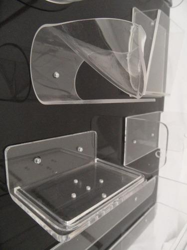 jabonera con forma ó plana 2 modelos - acrílico transparente