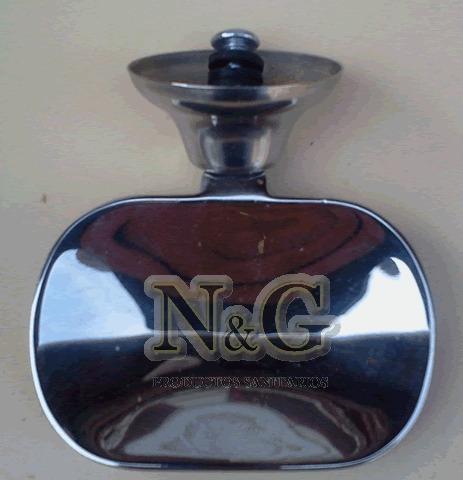 jabonera de bronce cromado para atornillar con tarugo