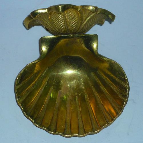 jabonera de bronce macizo chileno 13x12 cm. impecable estado