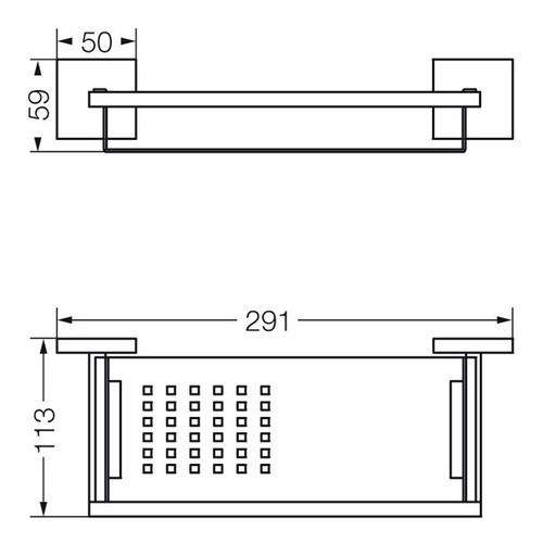 jabonera fv dominic jabonera doble aplicar 168.01/85m metal