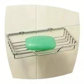 jabonera rectangular rejilla acero inoxidable- griferia baño