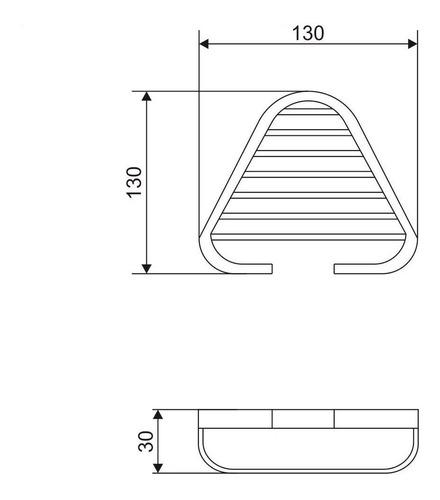 jabonera rejilla angular metálica piazza bronce 5 a garantia