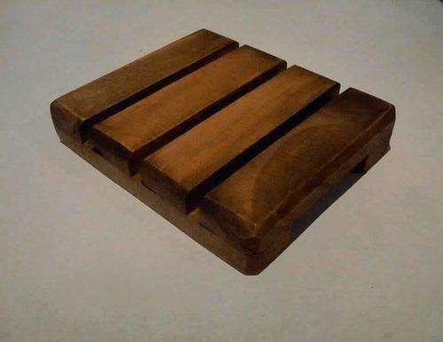 jaboneras de madera artesanales