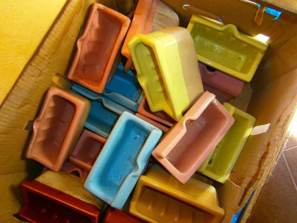 Jaboneras en porcelana para ba o diversos colores nuevas for Jaboneras de bano
