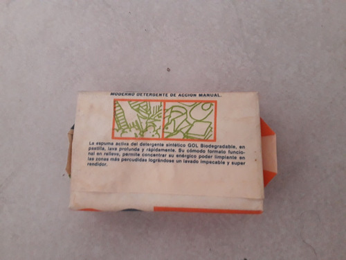 jabones antiguos: detergente sintetico biodegradable gol