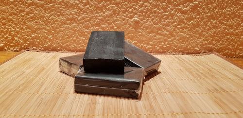 jabones artesanales de carbón activado 100 gr