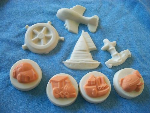 jabones artesanales glicerina y coco. estilo marino .