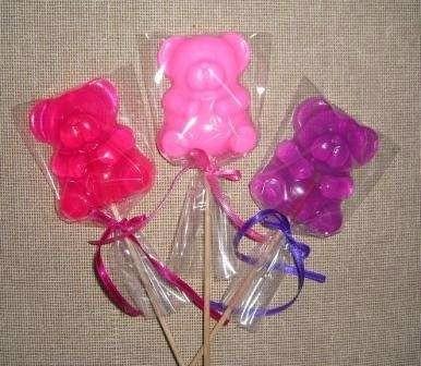 Jabones para baby shower bautizo cumplea os en - Hacer jabones de glicerina decorativos ...