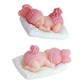 Jabones En Forma De Bebé Con Orejas Baby Shower 20pz