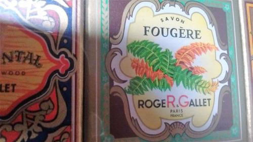 jabones por 6 roger gallet francia antiguos de 25 gramos