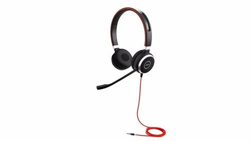 jabra evolve 40 uc estéreo con cable de auriculares (usados)