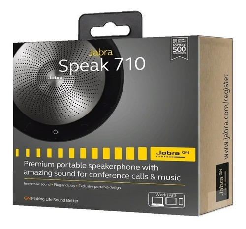 jabra speak, bocina y micrófono inalámbricos, por bluetooth