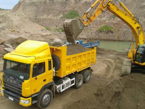 jac volcadora 336hp/6x4 camion-entrega ya-cif u$s 70.000