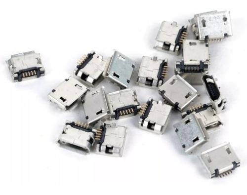 jack conector carga power tablet micro usb v8 - kit com 10un