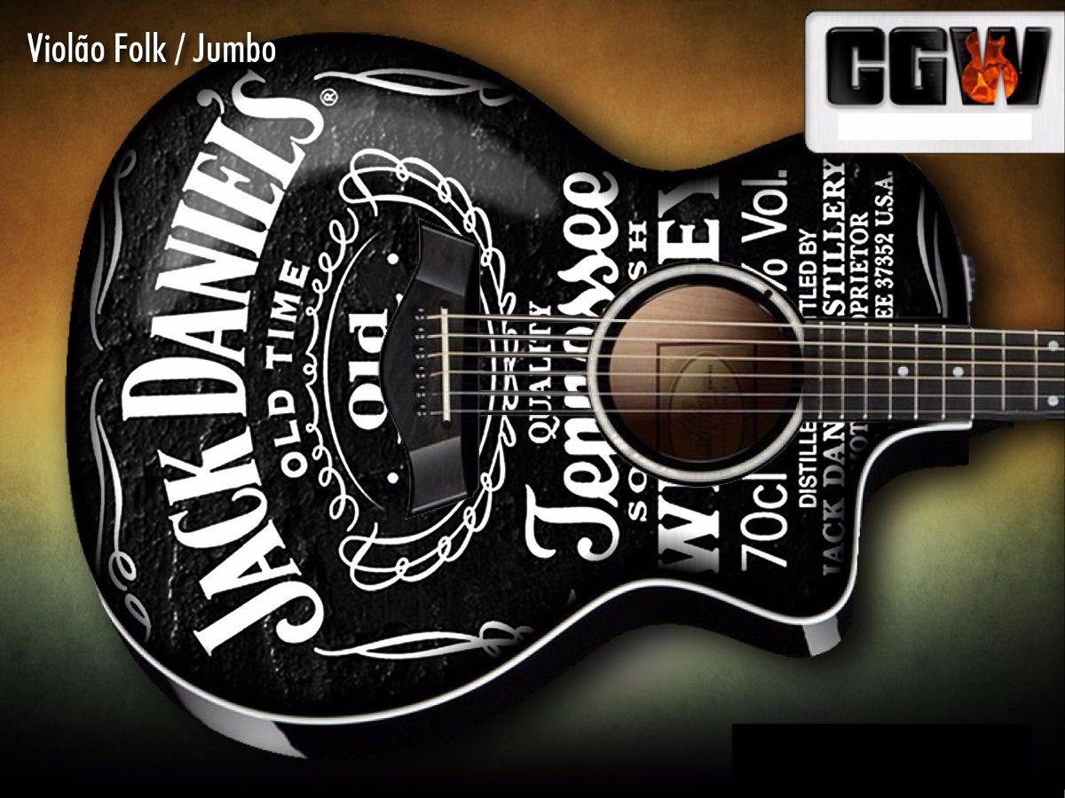 Artesanato Feltro Passo A Passo ~ Jack Daniels Skin Adesivo Guitarra Baixo Violao Jack Guitar R$ 130,00 em Mercado Livre