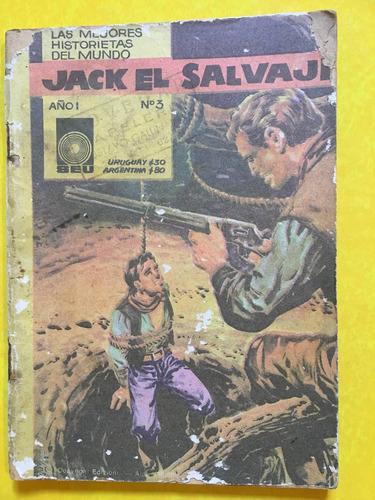 jack el salvaje, historieta del oeste, 120 pag, seusa