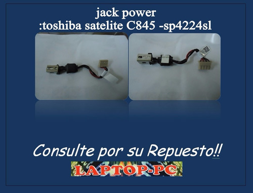 jack power :toshiba satelite c845 -sp4224sl
