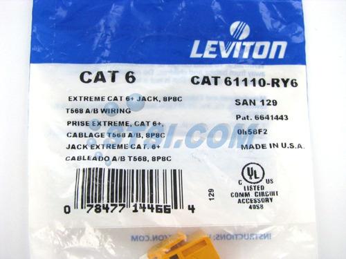 jack rj45 color amarillo cat 6